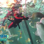One of our younger participants feeds the species in our shark tank!
