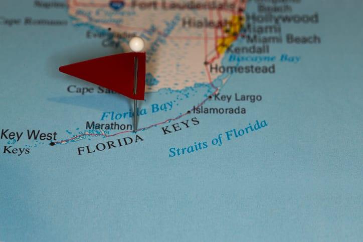 Largo Fl Elevation Map.Marathon Fl Usa Cities On Map Series Florida Keys Aquarium