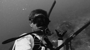 picture of underwater diver ryan